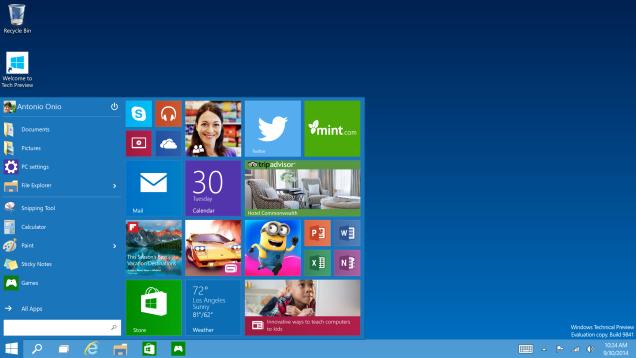 windows 10 botón de inicio