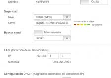 Cambiar parametros wifi
