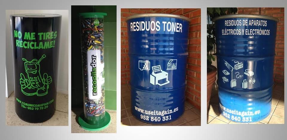 reciclaje tóner pilas residuos electrónicos