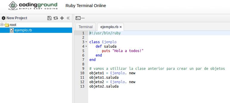 ejemplo de clase en Ruby