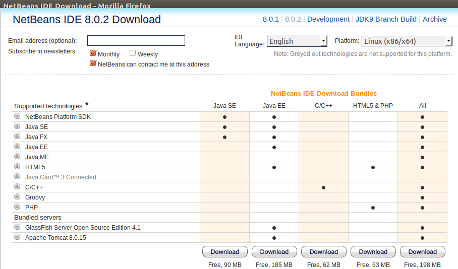 Netbeans download