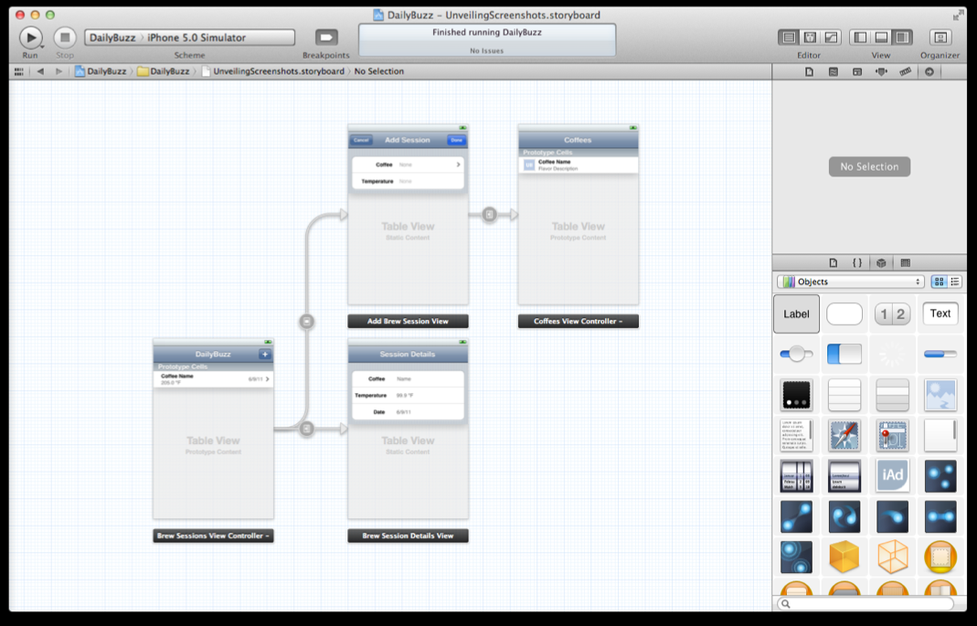 XCode. Story Board