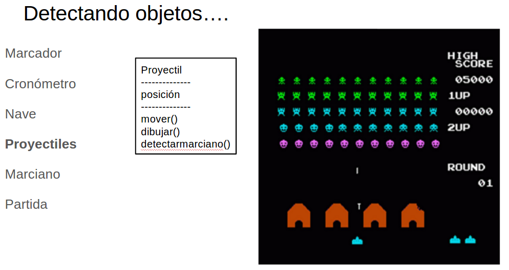 Detectando objetos clase proyectil
