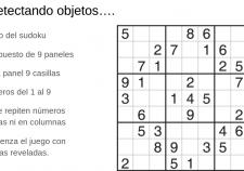 Detectando objetos en el juego del sudoku