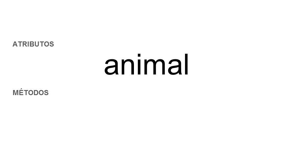 propiedades y métodos de una clase animal