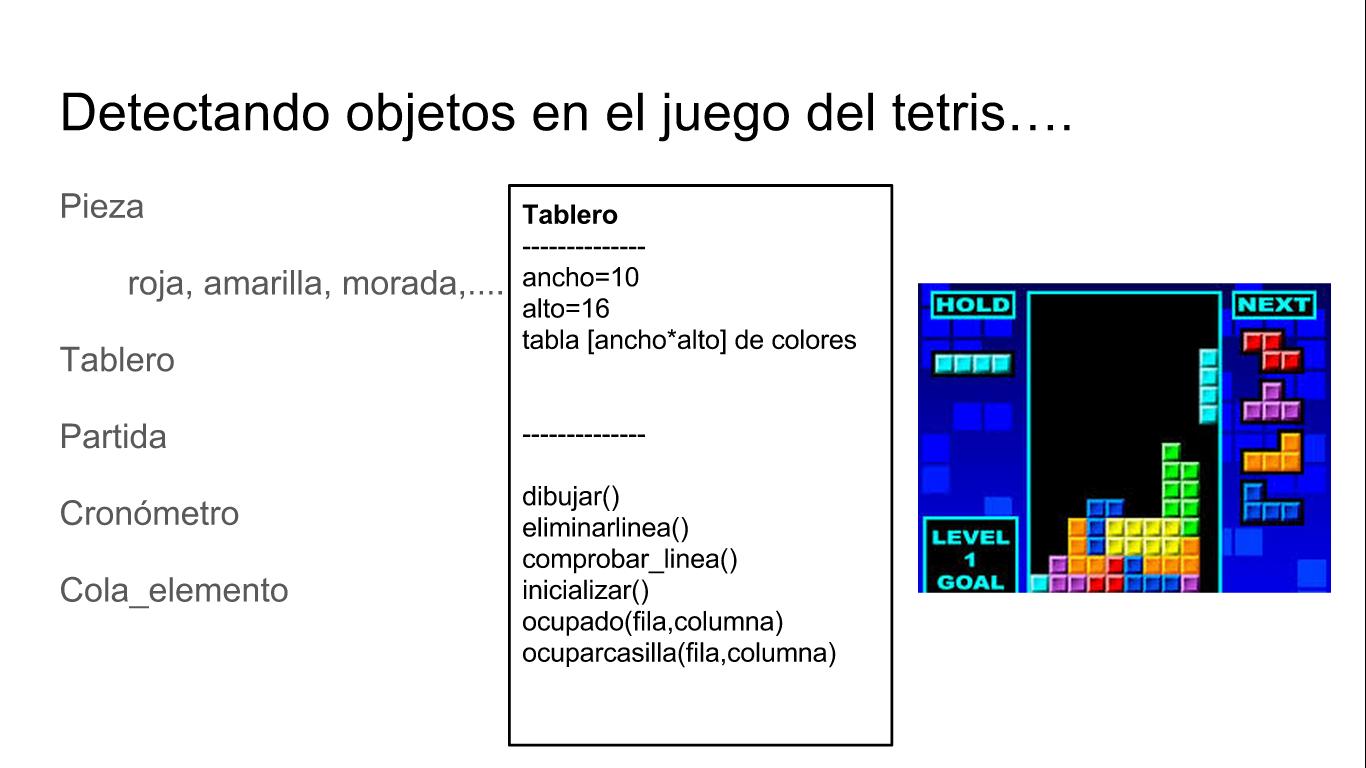 Clase tablero del juego del tetris
