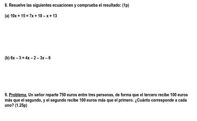 examen algebra 1 eso 4
