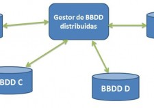 esquema de un sistema de bases de datos distribuidas