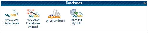 Herramientas de administración de base de datos disponibles en CPanel