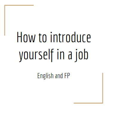 how to introduce yourself in a job
