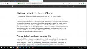 batería y rendimiento del iphone