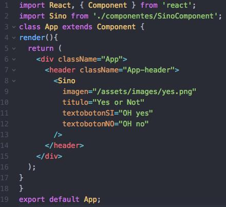 Componente App inicial